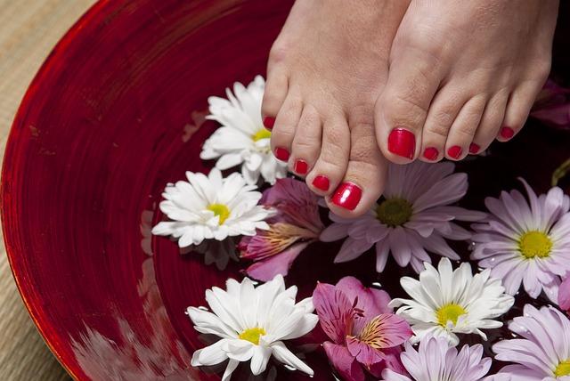 květiny a nohy
