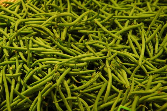zelené fazolové lusky